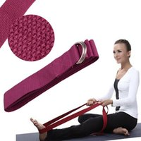 Wholesale New Yoga Stretch Strap D Ring Waist Leg Home Gym Fitness Adjustable Training Exercise Resistance Belts