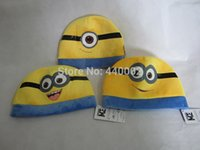 Wholesale Despicable me children cartoon character Jorge Dave Stewart plush hat cute cap styles lovely favourite