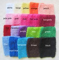 Cheap 150pcs lot 6 Inch 15cm X 15cm New Baby Girl Elastic Rayon Waffle Headbands Crochet Tutu Tube Tops Chest Wrap