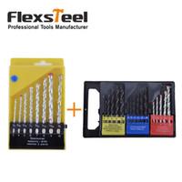 Flexsteel 16PCS Twist bois maçonnerie combinaison de métaux Broche Kit Brocas Kit + 8pcs HSS maçonnerie roche béton foret Bits Set