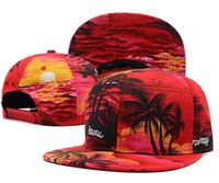 beach ball pop - new fashion K pop blank California style beach Coconut trees snapback baseball hat men women colors skateborad adjustable caps