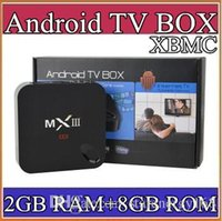Wholesale MXIII K Amlogic S802 Android TV Box Smart TV Receiver Media Player GHz Quad Core Android Octa Core GB GB XBMC G TV