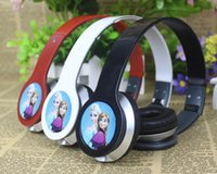 Cheap Wired wired cartoon headset Best Cell Phones Stereo kids headphones
