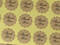 Wholesale Kraft sticker labels quot Thank you quot stickers Seal Sticker DIY Scrapbooking Paper Stickers Decorative gift Sticker