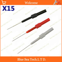 Wholesale 15 DIY mm back probe mm Test probe Adaptor with mm socket for car circuit test VAC VDC Max A