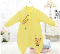 Cold Weather apart clothing - Legs Apart Baby Sleeping Bags Sleep Suits Autumn Winter Newborn Sleeping Bags Removable Sleeve Cartoon Infant Sleepsacks Anti Kicking m0764