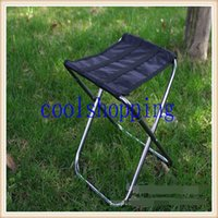Wholesale DHL Freeshipping Portable folding fishing chair aluminum alloy beach chairs