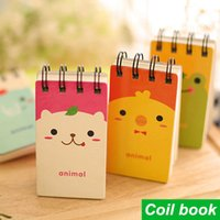 Wholesale 4 Cute animal Notebook Soft Coil copybook Spiral notepad agenda caderno stationery office material School supplies