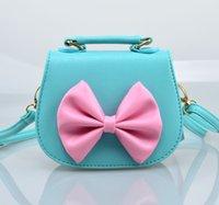 Wholesale 19 style Korean children bag lovely girls princess inclined bag fashion bow handbag bags