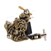 skull tattoo gun - Bronze K200 Skull Casting Tattoo Machine High Stability Tattoos guns Body Art Warps Coils R Minute TBA_105