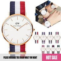Wholesale Daniel Wellington watches with original boxes and instructions DW watches for mens luxury wristwatches for women all colors