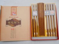 african mahogany wood - Extra pear wood mahogany chopsticks chopsticks ten pairs of chopsticks are not long haired long Lei African pear wood