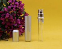 empty perfume bottles - 8ml metal Mini Perfume Bottle For Travel Empty Refillable Spray Scent Atomizer Glass Bottle Cosmetic Hot Sellings