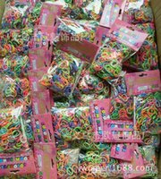 Hair Rubber Bands Children's Silicone Rainbow Loom glow in the dark glitter metal camouflage charms bands Silicone Rubber Band colorful bag 600bands+24cl 300pcs