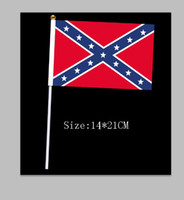 Wholesale USA Confederate Rebel civil war rebel flag hand signal flag National Polyester Flag Banner Printed Flag cm by DHL