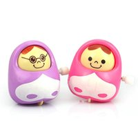 baby tumbler - Tumbler roly poly Clockwork nodding doll small creative gift baby wind up toys