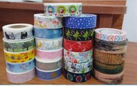 washi tape - Wholsale washi tape Scrapbooking Washi Tapes Stickers Rushed Decorative Tape New Arrivel Adhesive Japanese Paper