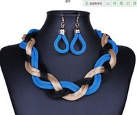 american metal supply - 2015 New Fashion Women Statement Necklace Jewelry Collar Chokers Handmade Metal Braid Twist Chain Necklaces For Ladies sets supply