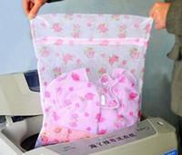 Wholesale 2016 new South Korean high quality green home printing fine mesh nylon laundry bag bra underwear care wash bag Specials