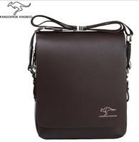 Wholesale 100 Genuine leather men message bag hot fashion brand designer mens handbags bags Black Brown Briefcase Laptop Shoulder Bag size