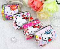 Wholesale New product designs Hello Kitty coin purse mini purses coin wallets women s coin wallet scattered holder