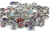 Wholesale mix color new fashion High quality Mix Many styles mm Metal Snap Button Charm Rhinestone Styles Button Ginger Snaps Jewelry