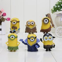anime toys - 6Pcs set Despicable Me Minions Anime Toys CM Despicable Me Figure doll Minion Decoration Brinquedos Best Gift