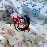 Wholesale Printing snow spinning costume hanfu Eva chiffon skirt clothes COS the yarn silk scarves spring and summer clothing