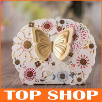 Wholesale Laser Cut Flower Hollow Candy Box with Butterfly Paper Wedding Favors Chocolate Sweet Day Gift Box Party Decoration HQ1179