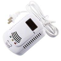 backup warning sensor - Plug In Combustible Gas Detector Alarm Sensor with Voice Warning and Volt Battery Backup