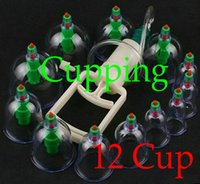 Wholesale 4Sets Top Quality Chinese Medical cupping Cups Set Kit magnets Point Health Massage Acupuncture Cupping