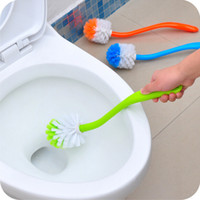 Wholesale Hot Portable Toilet Brush Scrubber Cleaner Clean Brush Bent Bowl Handle