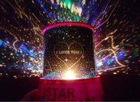 al por mayor new led lamp-Nueva ensue Cielo colorido LED amo de la estrella Luces Constelación Sound Projector Lamp Bulb dormido la noche del envío de la Navidad Decoración Gratis