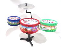 Wholesale 4set children s musical toys Children drums percussion toys hand drums baby education toy music play toy