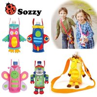 Wholesale 2015 new style Factory Outlet SOZZY Children water bottle pocket bags beverage bottle handle bags A20990012