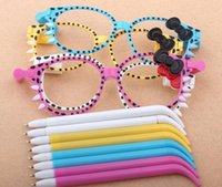 Wholesale 2015 hot sales Bowknot is glasses Ballpoint pen Creative glasses modelling ballpoint pen The child stationery