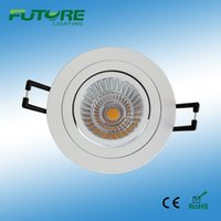 aluminum fixture suppliers - Free Shippment high quality W W Cree COB chip light fixture of ceiling dimmable led lighting downlights from china supplier