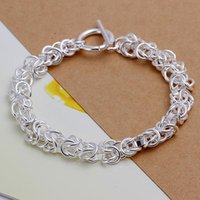 american friction - New Fashion American Style Bracelet for Men Anti friction and Anti oxidation Copper with Silver Plated Cable Chain Silver bracelets