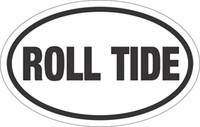 alabama door - Car Stickers Roll Tide Alabama Oval Decal Sticker Vinyl For Car Window Bumper