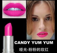 Wholesale HOT selling M top quality Makeup Luster Lipstick Frost Lipstick Matte g colors with english name ruby woo cyber candy yum yum free dhl