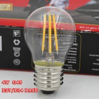 replacement led lights - 4W E14 E12 E27 Socket G45 LED FILAMENT BULB LM WHITEIGHT REPLACEMENT WITH W TRADITIONAL LAMP K WAR Epistar Chip LED Bulb Light