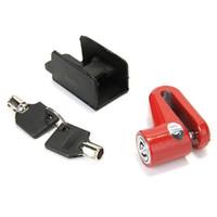 Wholesale IMC Bicycle Bike Cycling Disk Brake Wheel Lock Biker Security Red Keys order lt no track