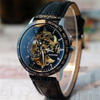 best seller definition - Hot Salw Best seller Comfortable leather band Men Hollow Skeleton Automatic Mechanical Stainless Steel Wrist Watch new classic definition