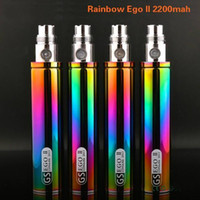 Cheap 100% Original Greensound GS EGO 2 II Rainbow Color 2200mAh Battery E-Cigarette For EGO II Batteries Mods High quality in Stock free shipping