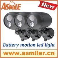 Cheap Private Design Light-conductive Panel Included Aluminum Housing battery Powered PIR Motion Sensor LED Light from asmile