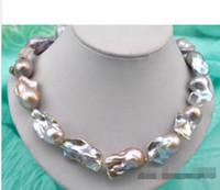 Wholesale gt gt gt quot mm baroque lavender reborn keshi pearl necklace