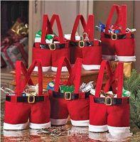 Wholesale Cheap Santa Pants Christmas Candy Gift Bag Xmas wedding Party Supplies Hot Sale Ts s28