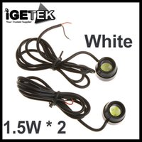 backing up a car - 2Pcs A Pair W LED White High Power Eagle Eye Car Rear Back Up Reverse Tail LED Light Auto Lamp