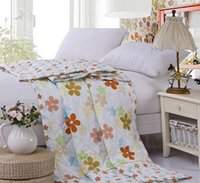 Children Polyester Twin Summer Printed Quilt Air Conditioning Polyester Cotton Thin Style Letter Windmill Home Quilt Size 100*145cm