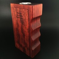 Wholesale Newest APC Wood Box Mod Wood V2 Dual Battery Mod vs Sigelei w plus Cloupor mini eleaf istick Tesla Invader II